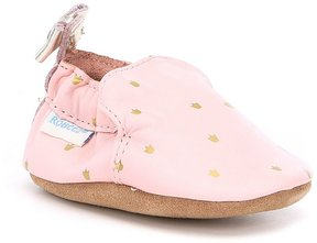 Robeez Baby Girls Newborn-24 Months Bow Soft-Sole Shoes