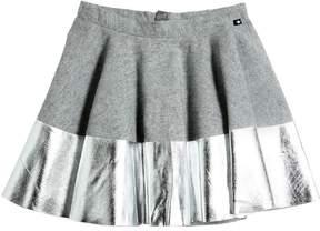 Molo Cotton Flannel Skirt W/ Metallic Hem