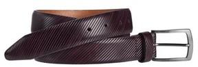 Johnston & Murphy Men's Diagonal Embossed Leather Belt