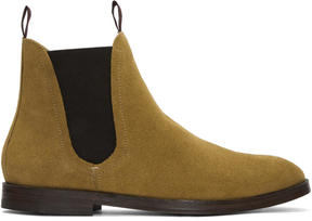 H By Hudson Tan Suede Tamper Boots