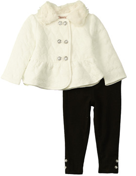 Nanette Lepore Girls' Quilted Jacket With Legging