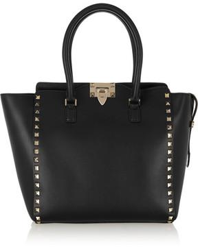 Valentino - The Rockstud Medium Leather Tote - Black