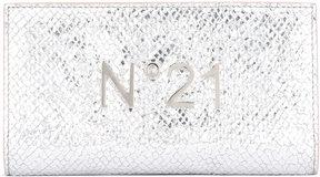No21 logo plaque high shine wallet