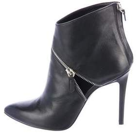 Barbara Bui Leather Pointed-Toe Ankle Boots
