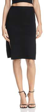 Olivaceous Slit Body-Con Skirt