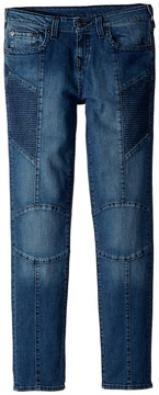 True Religion Rocco Moto Jeans in Shaded Blue Boy's Jeans