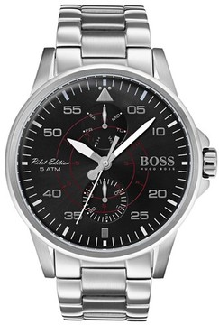 BOSS Men's Hugo Aviator Multifunction Bracelet Watch, 44Mm