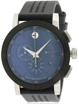 Movado Museum Chronograph Rubber Men's Watch, 0607003