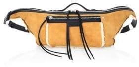 Rag & Bone Large Elliot Shearling-Trim Leather Belt Bag