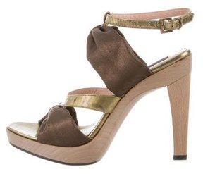 Derek Lam Metallic Ankle Strap Sandals