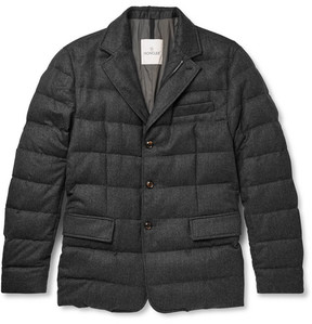 Moncler Rodin Quilted Wool-Flannel Down Jacket
