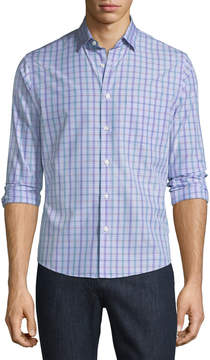 Neiman Marcus Slim-Fit Wear-It-Out Check Sport Shirt