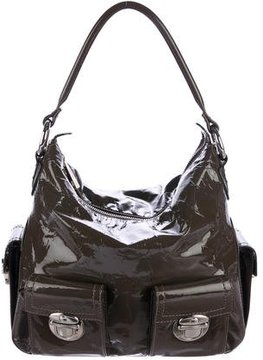 Marc Jacobs Patent Leather Shoulder Bag - BROWN - STYLE
