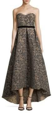 ML Monique Lhuillier Floral Jacquard Ball Gown