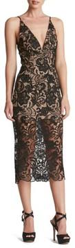 Dress the Population Women's 'Marie' Lace Midi Dress