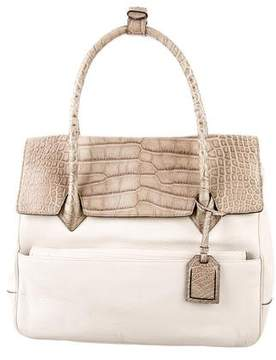 Reed Krakoff Crocodile & Leather Bag