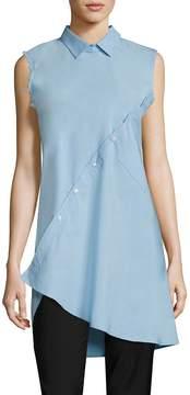 Each X Other Women's Asymmetrical Cotton Poplin Shirt