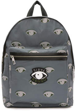 Kenzo Grey Nylon Eyes Backpack