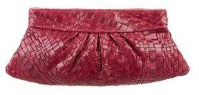 Lauren Merkin Woven Leather Clutch