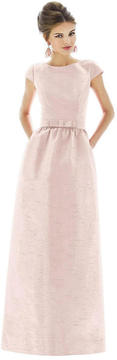 Alfred Sung D569 Bridesmaid Dress In Pearl Pink