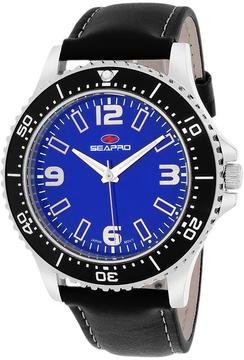 Seapro SP5312 Men's Tideway Black Leather Watch
