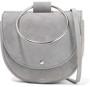 Theory Whitney Suede Shoulder Bag - Gray