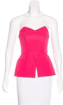 Finders Keepers Strapless Peplum Top