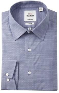 Ben Sherman Stretch Slub Florentine Tailored Slim Fit Dress Shirt