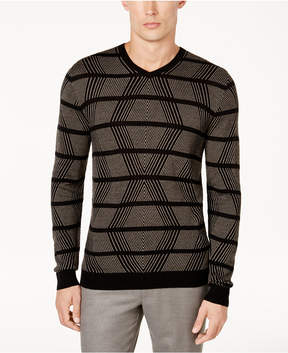 Alfani Men's Geo Cashmere Blend Sweater, Created for Macy's