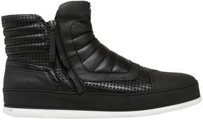 Bruno Bordese Perforated Leather & Nubuk Sneakers