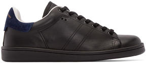 Isabel Marant Black Leather Bart Sneakers