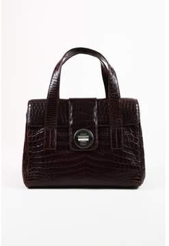 Tiffany & Co. Pre-owned Purple Crocodile manhattan Satchel Bag.