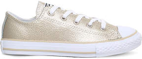 Converse Chuck Taylor All Star metallic leather low-top trainers 6-9 years