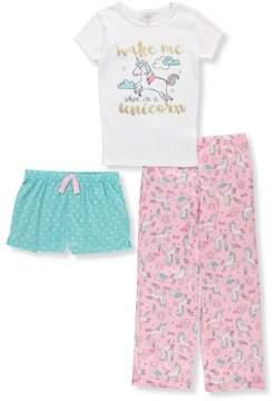 Carter's Girls' 3-Piece Pajamas - white/multi, 12