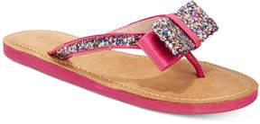 Kate Spade Icarda Glitter Bow Flip Flops