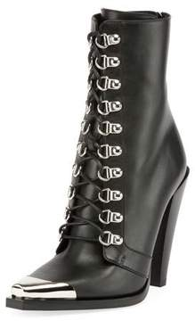 Balmain Calamity Lace-Up Cap-Toe Boot