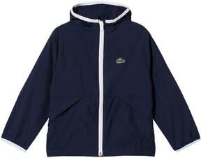 Lacoste Navy Hooded Lightweight Jacket