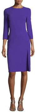 Escada 3/4-Sleeve Virgin Wool Crepe Dress