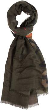 Valentino Printed Camouflage Scarf