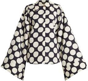 Awake Polka-dot print kimono-sleeve shirt