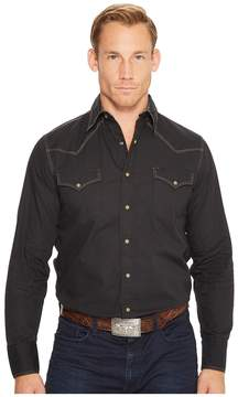 Roper 1273 Solid Poplin - Black Men's Clothing