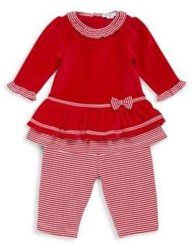Kissy Kissy Baby's Two-Piece Santa Helper Dress and Leggings Set