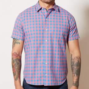 Blade + Blue Red & Blue Buffalo Check Short Sleeve Shirt - BOBBY