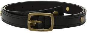 Calvin Klein Stitched Edge Belt w/ Disc Rivet Women's Belts