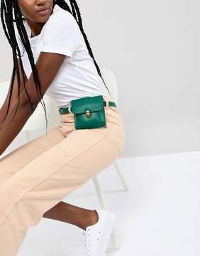 Asos DESIGN purse belt with push lock detail