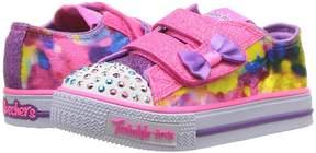 Skechers Twinkle Toes: Shuffles - Tie-Dye 10885N Lights Girl's Shoes