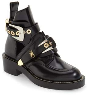 Balenciaga Women's Cutout Buckle Boot