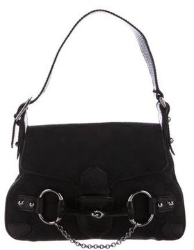 Gucci Small Horsebit Chain Shoulder Bag - BLACK - STYLE