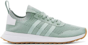 adidas Green and White Flashback Primeknit Sneakers
