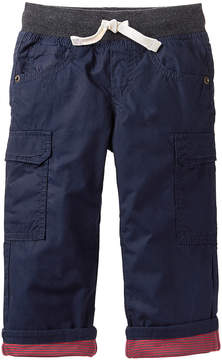 Gymboree Navy Jersey-Lined Cargo Pants - Infant